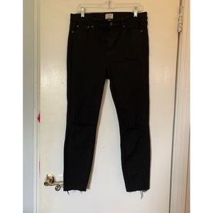 Jcrew size 32 look out high rise riped skinny jean